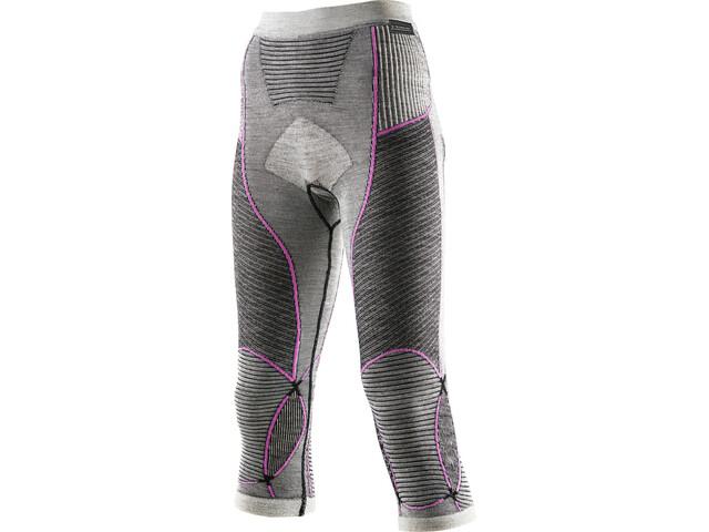 X-Bionic Apani Merino By X-Bionic Fastflow Medium Pants Damen black/grey/pink
